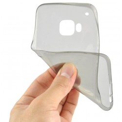 Juodas plonas 0,3mm silikoninis dėklas Samsung Galaxy S6 Edge Plus telefonui