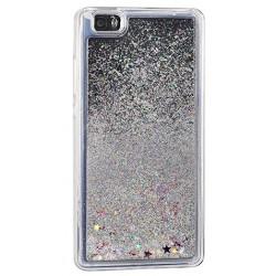 """Sidabrinės spalvos silikoninis dėklas su blizgučiais Apple iPhone 7 telefonui """"Water Case Stars"""""""