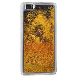 """Auksinės spalvos silikoninis dėklas su blizgučiais Apple iPhone 7 telefonui """"Water Case Stars"""""""