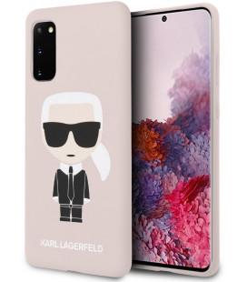 "Rožinis dėklas Samsung Galaxy S20 telefonui ""KLHCS62SLFKPI Karl Lagerfeld Full Body Cover"""