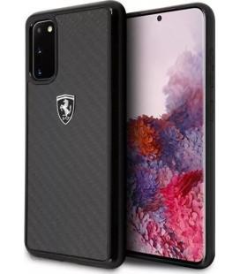 "Juodas dėklas Samsung Galaxy S20 telefonui ""FEHCAHCS62BK Ferrari Heritage Carbon Cover"""