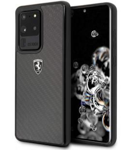 "Juodas dėklas Samsung Galaxy S20 Ultra telefonui ""FEHCAHCS69BK Ferrari Heritage Carbon Cover"""