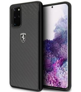 """Juodas dėklas Samsung Galaxy S20 Plus telefonui """"FEHCAHCS67BK Ferrari Heritage Carbon Cover"""""""