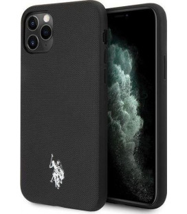 "Juodas dėklas Apple iPhone 11 Pro telefonui ""USHCN58PUBK U.S. Polo Wrapped Polo Cover"""