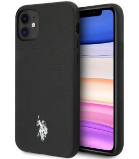 "Juodas dėklas Apple iPhone 11 telefonui ""USHCN61PUBK U.S. Polo Wrapped Polo Cover"""