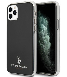 "Juodas dėklas Apple iPhone 11 Pro telefonui ""USHCN58TPUBK U.S. Polo TPU Small Horse Cover"""