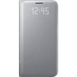 """Originalus atverčiamas sidabrinės spalvos dėklas """"LED View Cover"""" Samsung Galaxy S7 G930F telefonui ef-ng930pse"""