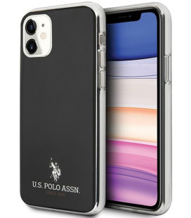"Juodas dėklas Apple iPhone 11 telefonui ""USHCN61TPUBK U.S. Polo TPU Small Horse Cover"""