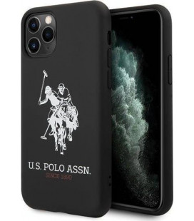 "Juodas dėklas Apple iPhone 11 Pro telefonui ""USHCN58SLHRBK U.S. Polo Big Horse Silicone Cover"""