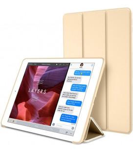 """Auksinės spalvos atverčiamas dėklas Apple iPad Air 2 planšetei """"Tech-Protect Smartcase"""""""