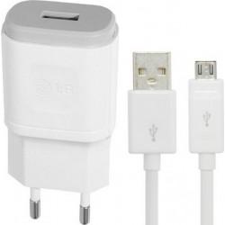 Originalus LG baltas pakrovėjas 1,8A ir USB laidas MCS-04ER + EAD62329704
