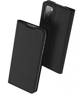 """Juodas atverčiamas dėklas Samsung Galaxy S20 FE telefonui """"Dux Ducis Skin Pro"""""""