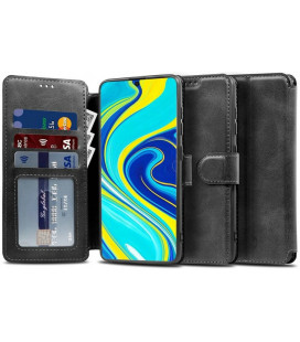 """Juodas atverčiamas dėklas Xiaomi Poco X3 NFC telefonui """"Tech-protect Wallet"""""""