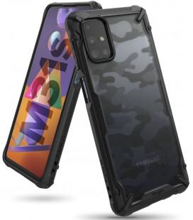 """Juodas (Camo) dėklas Samsung Galaxy M31S telefonui """"Ringke Fusion X"""""""
