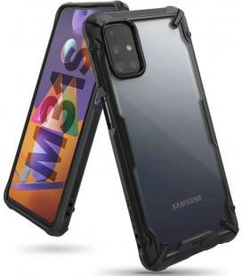 """Juodas dėklas Samsung Galaxy M31S telefonui """"Ringke Fusion X"""""""