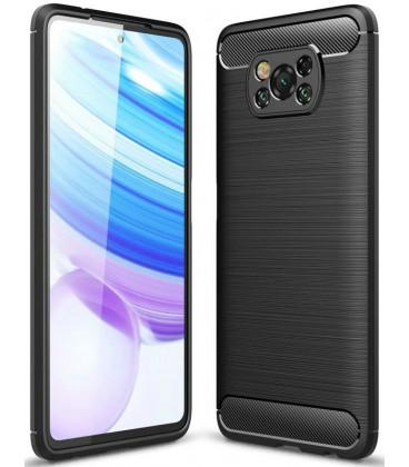 """Juodas dėklas Xiaomi Poco X3 NFC telefonui """"Tech-Protect"""""""