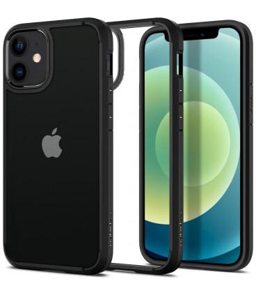 "Juodas dėklas Apple iPhone 12 Mini telefonui ""Spigen Ultra Hybrid"""