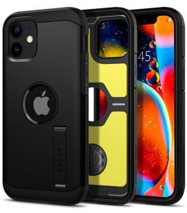 "Juodas dėklas Apple iPhone 12 Mini telefonui ""Spigen Tough Armor"""