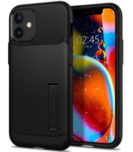 "Juodas dėklas Apple iPhone 12 Mini telefonui ""Spigen Slim Armor"""