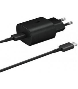 """Originalus Samsung juodas Super Fast Charging pakrovėjas ir Type C laidas """"EP-TA800EBE + EP-DR905BBE"""""""