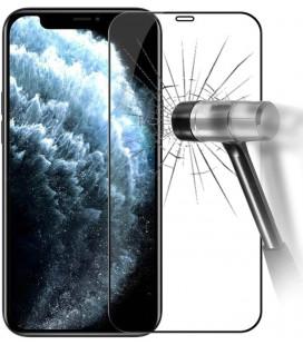 """5D Lenktas juodas apsauginis grūdintas stiklas Apple iPhone 12/12 Pro telefonui """"Full Glue"""""""