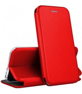 """Raudonas atverčiamas dėklas Huawei P40 Lite E telefonui """"Book Elegance"""""""