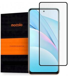 """Juodas apsauginis grūdintas stiklas Xiaomi Mi 10T Lite telefonui """"Mocolo TG Full Glue"""""""