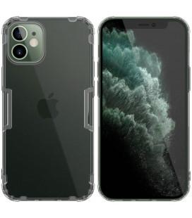 "Skaidrus/pilkas dėklas Apple iPhone 12 Mini telefonui ""Nillkin Nature"""