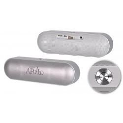 """Nešiojama sidabrinės spalvos belaidė Bluetooth ir FM garso kolonėlė """"Apollo S207"""""""
