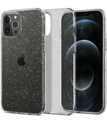"Skaidrus dėklas su blizgučiais Apple iPhone 12/12 Pro telefonui ""Spigen Liquid Crystal Glitter"""
