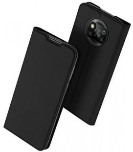 """Juodas atverčiamas dėklas Xiaomi Poco X3 NFC telefonui """"Dux Ducis Skin Pro"""""""