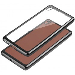"Juodas silikoninis dėklas Sony Xperia E5 Telefonui ""Glossy"""