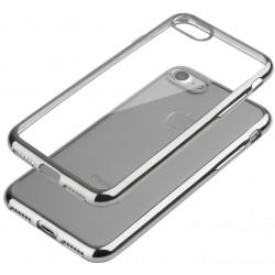 """Sidabrinės spalvos silikoninis dėklas Apple iPhone 7 Plus Telefonui """"Glossy"""""""
