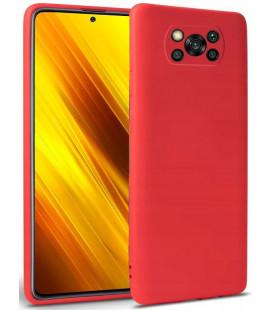 """Raudonas dėklas Xiaomi Poco X3 NFC telefonui """"Tech-protect Icon"""""""