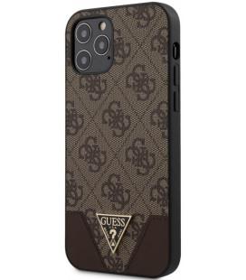 "Rudas dėklas Apple iPhone 12/12 Pro telefonui ""GUHCP12MPU4GHBR Guess 4G Triangle Cover"""