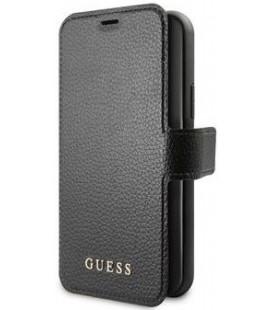 """Juodas atverčiamas dėklas Apple iPhone 12/12 Pro telefonui """"GUFLBKSP12MIGLBK Guess Iridescent Book Case"""""""