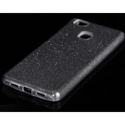 """Juodas silikoninis blizgantis dėklas Huawei P9 Lite telefonui """"Blink"""""""