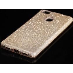 """Auksinės spalvos silikoninis blizgantis dėklas Huawei P9 Lite telefonui """"Blink"""""""