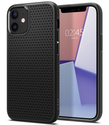 "Juodas dėklas Apple iPhone 12 Mini telefonui ""Spigen Liquid Air"""