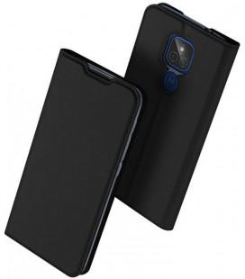 """Juodas atverčiamas dėklas Motorola Moto G9 Play / E7 Plus telefonui """"Dux Ducis Skin Pro"""""""