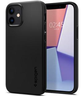 "Juodas dėklas Apple iPhone 12 Mini telefonui ""Spigen Thin Fit"""