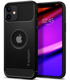 "Juodas dėklas Apple iPhone 12 Mini telefonui ""Spigen Rugged Armor"""