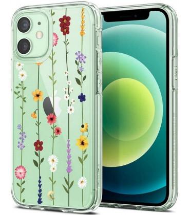 """Dėklas su gėlėmis Apple iPhone 12 Mini telefonui """"Spigen Cyrill Cecile Flower Garden"""""""