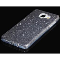 """Juodas silikoninis blizgantis dėklas Samsung Galaxy A5 2016 telefonui """"Blink"""""""