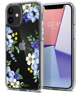 """Dėklas su gėlėmis Apple iPhone 12 Mini telefonui """"Spigen Cyrill Cecile Midnight Bloom"""""""