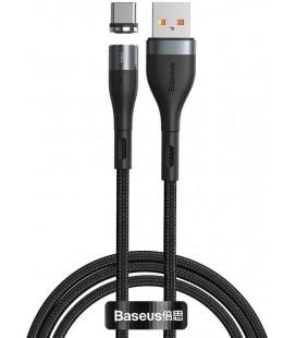 """Juodas magnetinis USB - Type-C laidas 100cm/3A """"Baseus Zinc"""""""