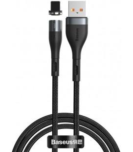 """Juodas magnetinis USB - Lightning laidas 100cm/2.4A """"Baseus Zinc"""""""