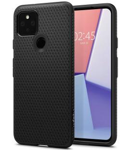 """Juodas dėklas Google Pixel 5 telefonui """"Spigen Liquid Air"""""""