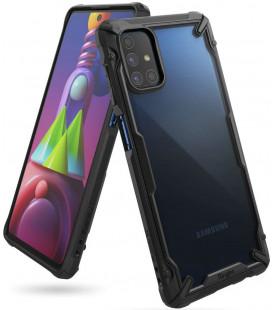 """Juodas dėklas Samsung Galaxy M51 telefonui """"Ringke Fusion X"""""""