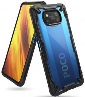 """Juodas dėklas Xiaomi Poco X3 NFC telefonui """"Ringke Fusion X"""""""